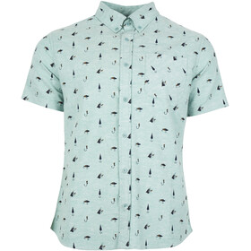 United By Blue Norde Stretch SS Button Down Herre sea green-hooked